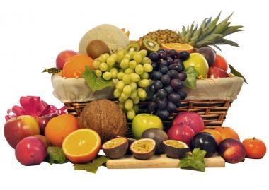 Presentkorg med frukt