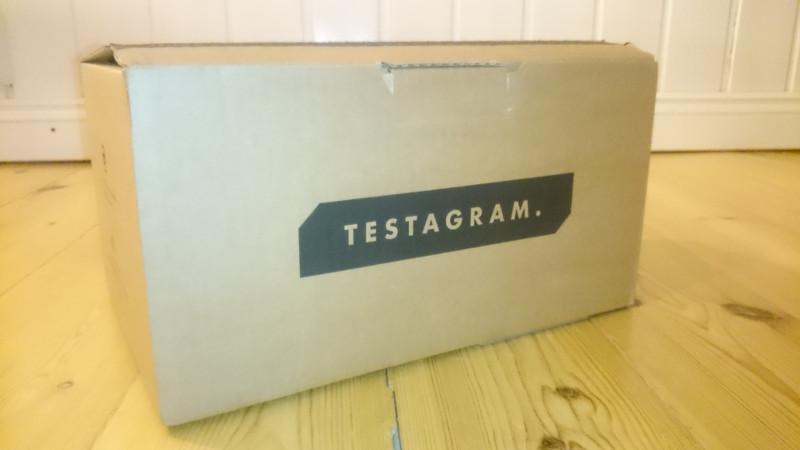 Testagram låda