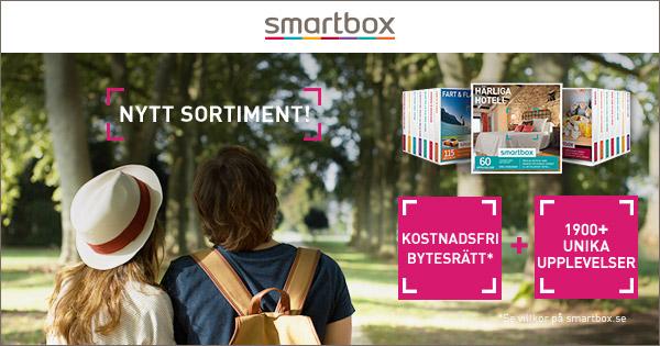 Smartbox finns online och hos återförsäljare